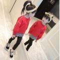 2017秋服新作韓国子供服 女の子 トレーナー パンツ 上下セット