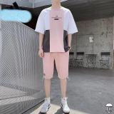 カジュアル 上下セット 柔らかい綿100% 半袖tシャツ+ハーフパンツ 2カラー M-3XL  スポーツウェア アディダス adidas