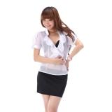 新作  少女時代系、短袖 オフィスレディすけすけ シースルー OL衣装GS0308