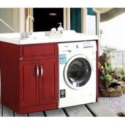 HAOBAO 大人気 ヨーロッパ 欧式 豪華 素朴 オーク材 洗濯機ラック ランドリーラック