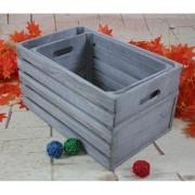木製アンテイーク収納ウッドボックス ハンドル付き収納ケース