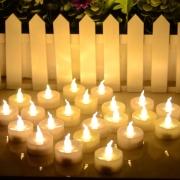 LEDキャンドル タイマーキャンドル ティーライトキャンドル  ろうそく 蝋燭  プレゼントギフト 電池式ローソク  キャンドルライト ノベルティー 贈り物