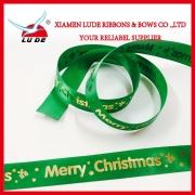 工場卸売DIYクリスマス用様々なデザインプリントリボン