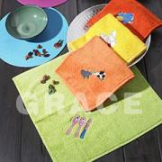刺繍キッチンタオル