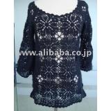 レディースカギ針セーター