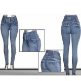 を押し上げたファッションスリムハイウエストのジーンズ