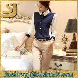 カスタマイズされたシャツメーカー通常のシャツの女性の綿の上
