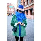 ホット! ファッション新ヨーロピアンスタイルグリーン/豪華なコート長いセクション/エメラルド/模造毛皮のコート/スリーブ女性