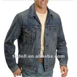 2012の流行の人の石はデニムのジャケットを洗浄した